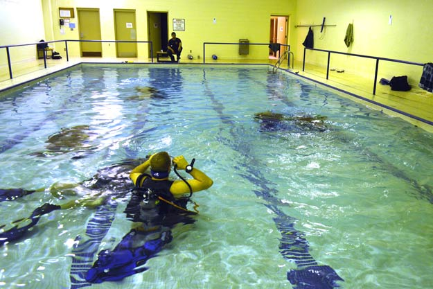 Motherhouse Pool Has A New Role As Dive Training Facility Sisters Of St Joseph Of Concordia