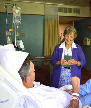 Sister Rita Plante, a canonical Sister of St. Joseph, ministers as a volunteer hospital chaplain in Silver City, N.M.