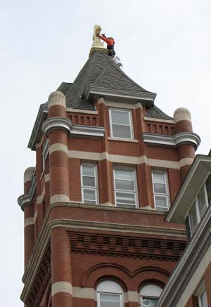 107 Year Old Cross Back At Top Of Motherhouse Tower