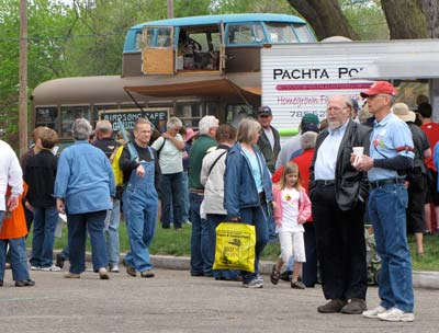 The biggest crowds early Saturday afternoon were around the food vendors, which were offering a wide variety of Kansas fare.