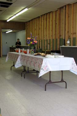 The table was loaded with homemade treats and punch as Thursdays Pre-Construction Party got ready to begin.