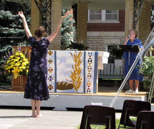 Laurie Kertz dances to Love Changes Everything, as sung by Sister Regina Ann Brummel.