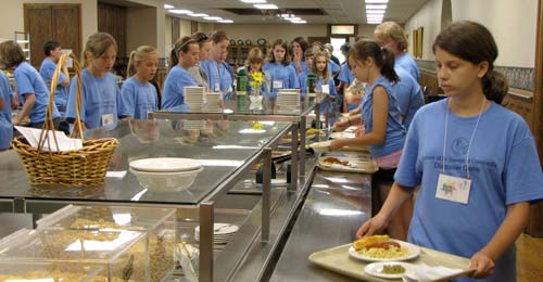 The kitchen staff at the Motherhouse knows that high-energy girls flock to high-energy, and hearty, food.