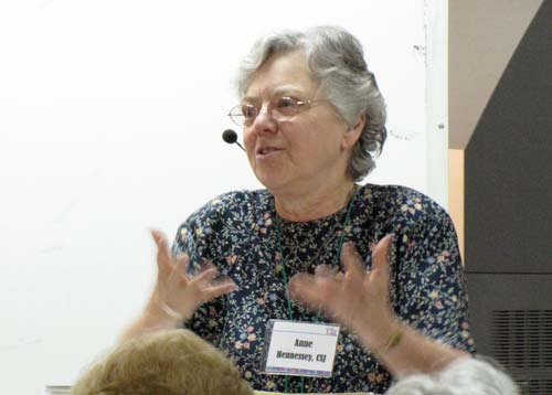 Sister Anne Hennessy of the Sisters of St. Joseph of Orange, Calif., was the first presenter, focusing on the history of France in the 17th century.