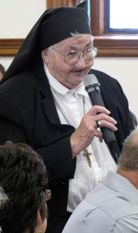 Sister Ann Glatter was recognized for the 60 years that she served as the gardener at the Motherhouse.