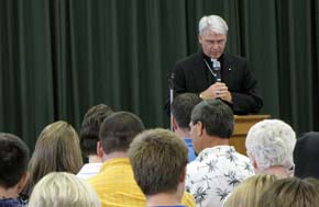 Bishop Paul Coakley of the Salina Diocese offered the opening and closing prayers for Rural Life Day Sunday afternoon.