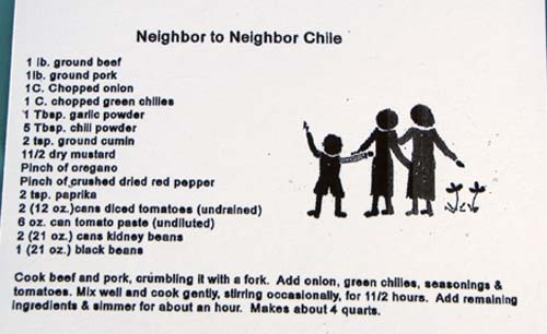 The winning recipe, which garnered $203 in prize money for the new Neighbor to Neighbor center.