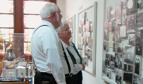 Bob and Lorene Steimel tour one of the two Heritage Rooms that explain the history of the Sisters of St. Joseph of Concordia.
