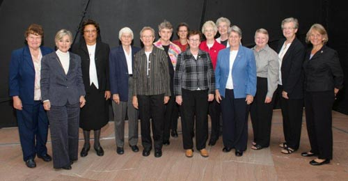 Sen. Barbara Boxer, D-Calif., second from left, is pictured with sisters who gathered in Washington. D.C., this week. Sister Margaret Nacke is fourth from the left.