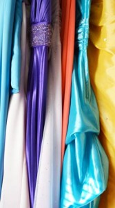 Shimmering fabrics and bright colors are the hallmarks of most prom dresses.