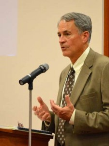 The longtime Salina attorney closed his presentation with an emphasis on servant-leadership in nonprofit organizations.